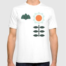 Set Sun Olive SMALL Mens Fitted Tee White