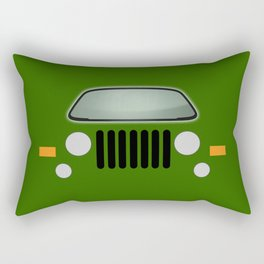 green jeep Rectangular Pillow