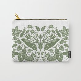 Beetle Bloom Green Carry-All Pouch