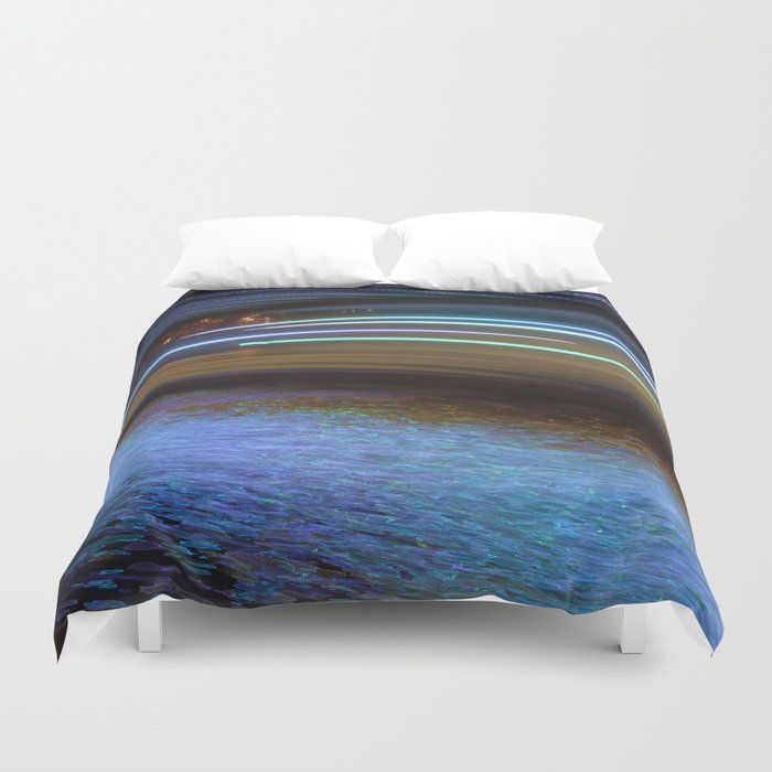 Into the Berlin Blue Night Duvet Cover