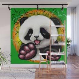 Panda Baby Bear Cute and Happy Wall Mural