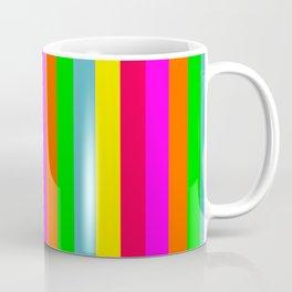 Neon Hawaiian Rainbow Cabana Stripes Coffee Mug