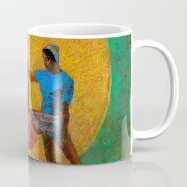 """Odilon Redon """"Figure Holding the Head of an Angel (also known as The Fall of Icarus)"""" Coffee Mug"""