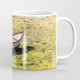 Boat stranded at low tide Coffee Mug