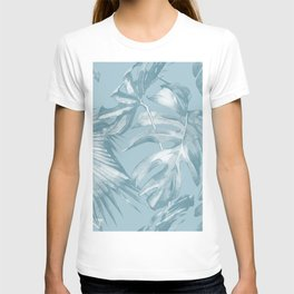 Island Dream Teal Palm Leaves T-shirt