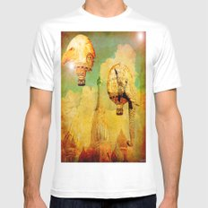 Hot-air balloons animal in Moscow Mens Fitted Tee White MEDIUM
