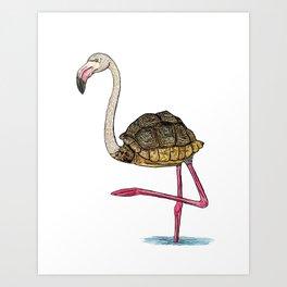 Flamingoise Art Print