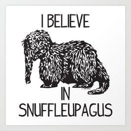 I Believe In Snuffleupagus Art Print