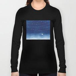 Follow the garland of stars, ocean, sailboat Long Sleeve T-shirt