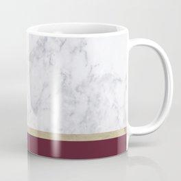 MARBLE GOLD WINE RED Coffee Mug