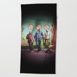 The Three Distinguished Members of the Committee to Handle the Squirrel Problem Beach Towel