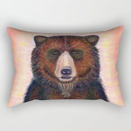 Blissed Out Bear Rectangular Pillow