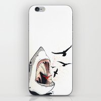 shark iPhone & iPod Skins featuring shark by SOF.T