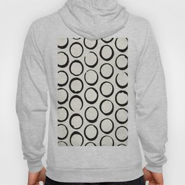 Polka Dots Circles Tribal Black and White Hoody