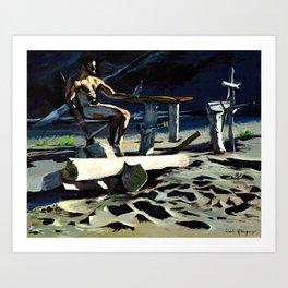 Sandbar, Rooster Rock State Park - Oregon Art Print