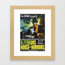 House of Horrors, vintage horror movie poster, Doctor Terror´s Framed Art Print