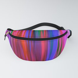 Rain  in Color Abstract Oil Pinting Fanny Pack