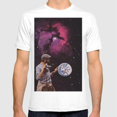 world in your hands Mens Fitted Tee White MEDIUM