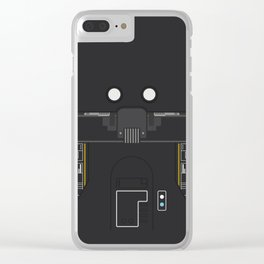 Minimal K-2SO Droid Clear iPhone Case