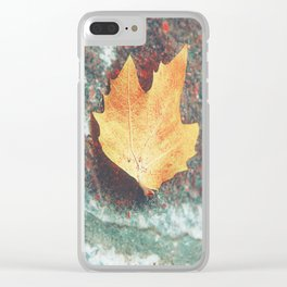 autumn yellow Clear iPhone Case