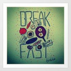Breakfast is important Art Print