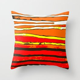 Contrasting stripes Throw Pillow