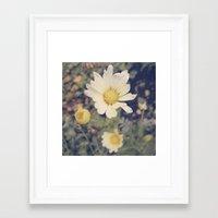 vintage flowers Framed Art Prints featuring Vintage flowers by Herzensdinge