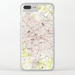 Vintage Map of Spartanburg South Carolina (1949) Clear iPhone Case