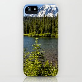 Wildflower Color by Reflection Lake and Mt Rainier, No. 2 iPhone Case