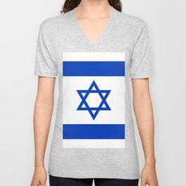 Flag of Israel Unisex V-Neck
