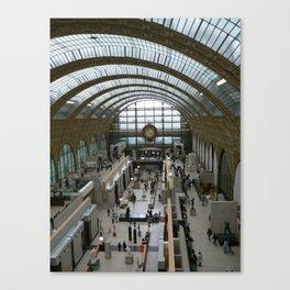 Train Station, Paris 2008 Canvas Print