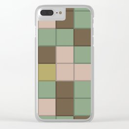 Color Square Abstraction Clear iPhone Case