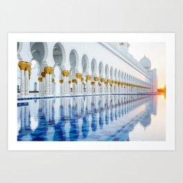 Abu Dhabi Sunset Art Print