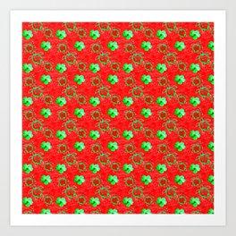 Holiday Honu Turtles Art Print