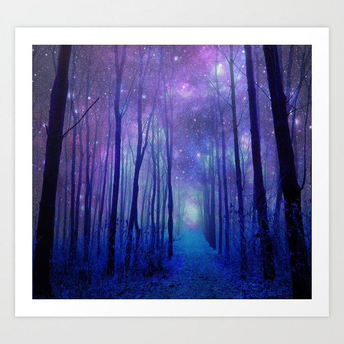 Fantasy Path Purple Blue Kunstdrucke