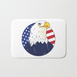 4th Of July Independence Day American Eagle Bath Mat