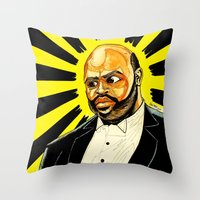 "fresh prince Throw Pillows featuring Fresh Prince - ""The Ascension of James/Phil"" by hawkeyesour"