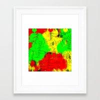 rasta Framed Art Prints featuring Rasta by Kimberly