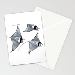 Devil fish Manta ray Mobula mobular Stationery Cards