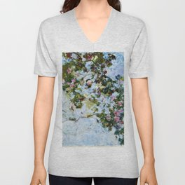 "Claude Monet ""The Rose Bush"" Unisex V-Neck"