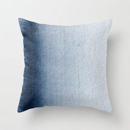 Indigo Vertical Blur Abstract Throw Pillow