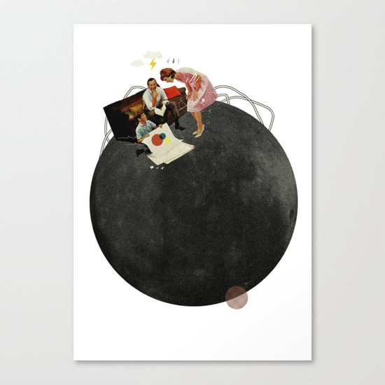 Life on Earth  | Collage | White Canvas Print