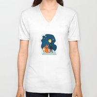 le petit prince V-neck T-shirts featuring Le petit prince by LaFilleCoquette