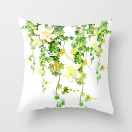 Watercolor Ivy Throw Pillow