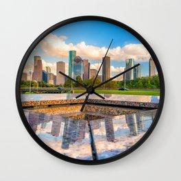 Houston 02 - USA Wall Clock