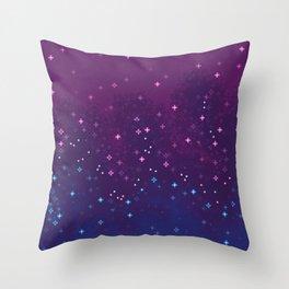 Bi Pride Flag Galaxy Throw Pillow