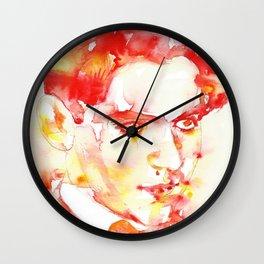 FEDERICO GARCIA LORCA - watercolor portrait Wall Clock