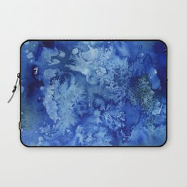 Blue Textured Watercolor Laptop Sleeve