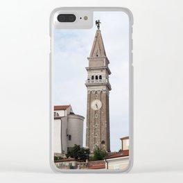 piran city church Clear iPhone Case