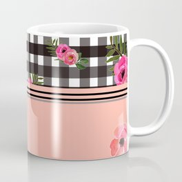 Gingham+Floral II Coffee Mug